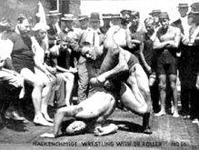 Георг Гаккеншмидт на борцовском ринге