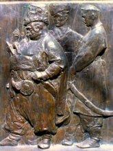 Гиляровский: барельеф на памятнике Гоголю